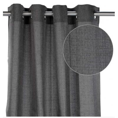 rideau effet lin gris fonce home
