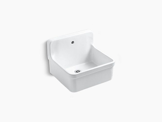 Gilford 24 X 22 Bracket Mounted Scrub Up Plaster Sink With