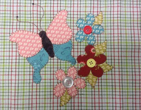 Garden Butterfly Applique PDF Pattern for Tea Towel ...