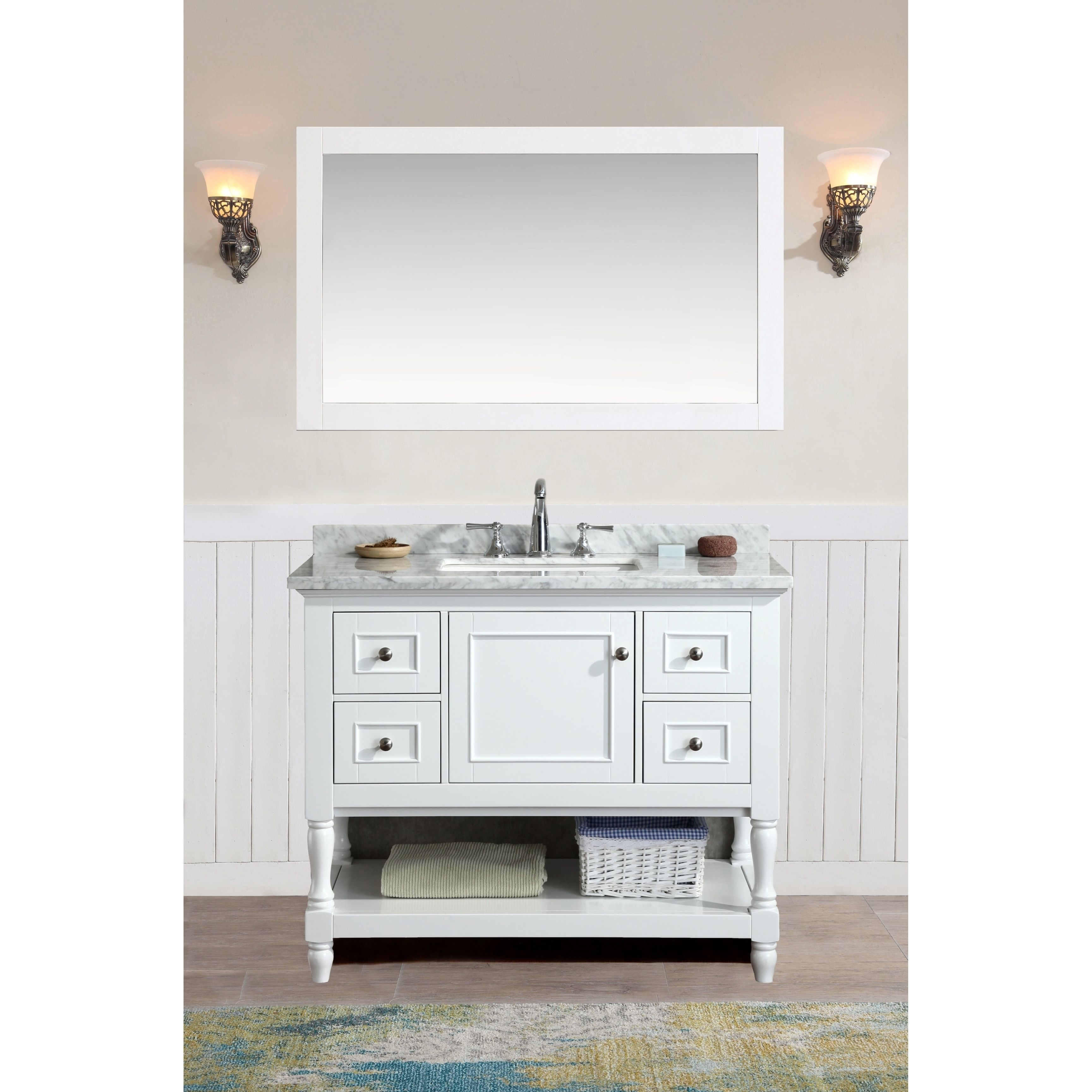 Ari Kitchen and Bath Cape Cod White 42 Inch Single Bathroom Vanity
