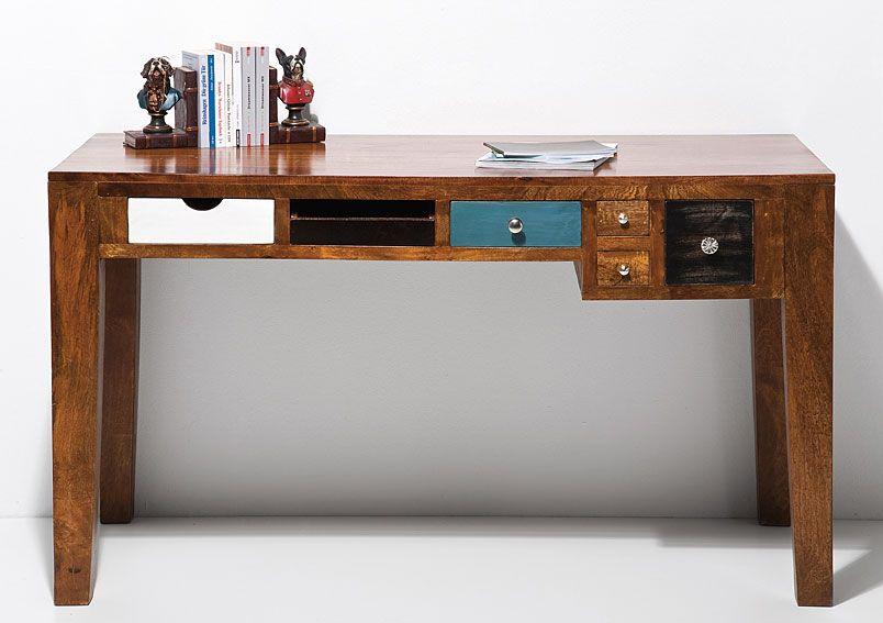 Mesa de escritorio vintage malibu material madera de - Mesa escritorio madera ...