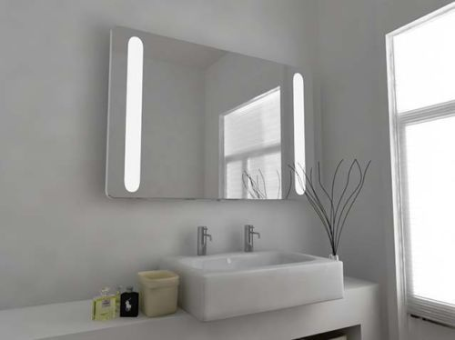 Super Bright Led Bathroom Mirror With Sensor Demister Pad And Shaver Socket K46 Led Mirror Bathroom Bathroom Mirror Modern Mirror Design