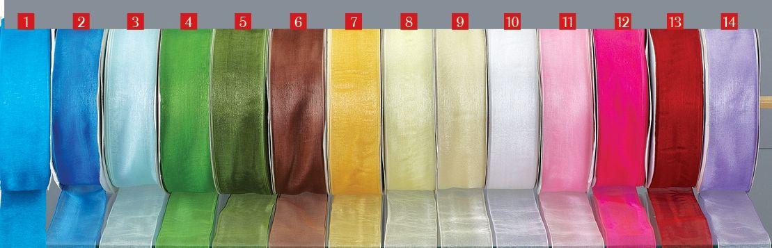 Υπέροχα υλικά για τις μπομπονιέρες του γάμου σας! Κορδέλα οργαντίνα με λεπτή ούγια στο τελείωμα σε 13 χρώματα κατάλληλη για στολισμούς και εντυπωσιακές διακοσμήσεις,επίσης μπορείτε να φτιάξετε ιδιαίτερους και μεγάλους φιόγκους για μπομπονιέρες μόνο 8,10 €