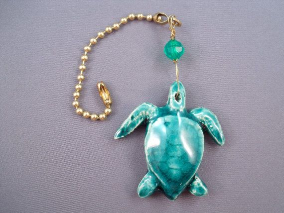 Sea Turtle Tropical Ceiling Fan Pull Pottery Fantasy