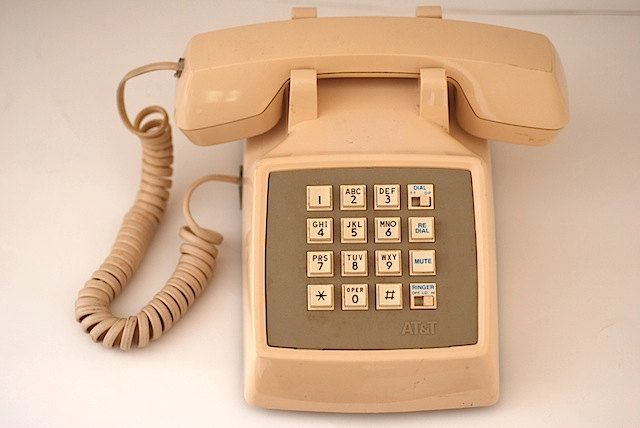 Vintage PUSH BUTTON Desk Phone, Custom Gift For Friend, Vintage Phone, Prop  For