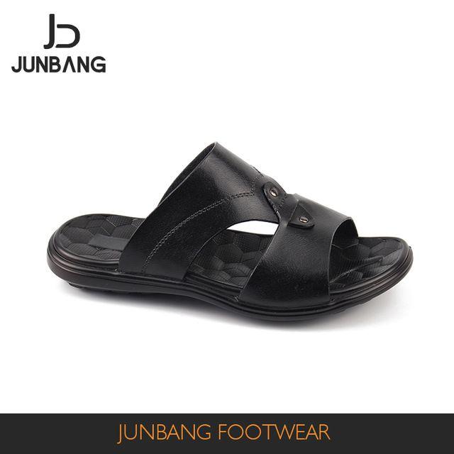 7d46fc870b81dd Source Normal men pu summer quality black color slipper sandal outdoor on  m.alibaba.com
