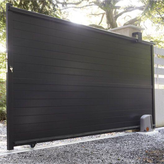 Portail Coulissant Aluminium Jena Gris Anthracite 350x170cm Portail Coulissant Portail Porte Moderne