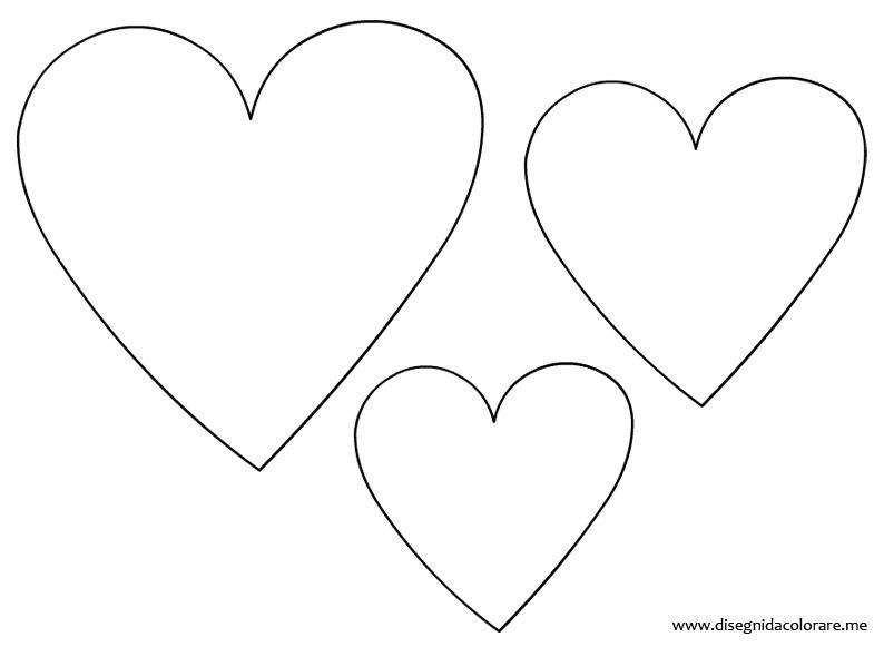 Hearts template template pinterest babbo natale for Disegni di cuori da stampare gratis