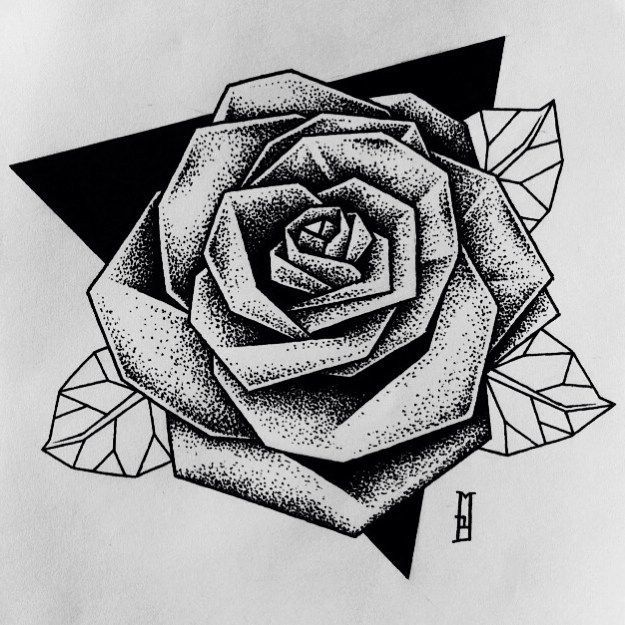 9bf8962e9e821 Such A Nice Twist On The Traditional Rose Tattoo Tattoos & Ideas
