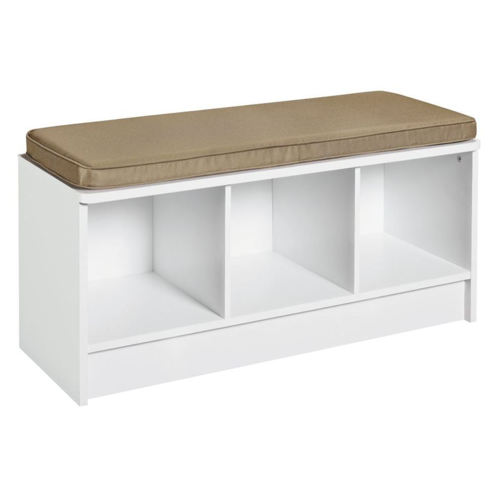 Astonishing Garage Closetmaid 3 Cube Storage Bench White Masters Short Links Chair Design For Home Short Linksinfo