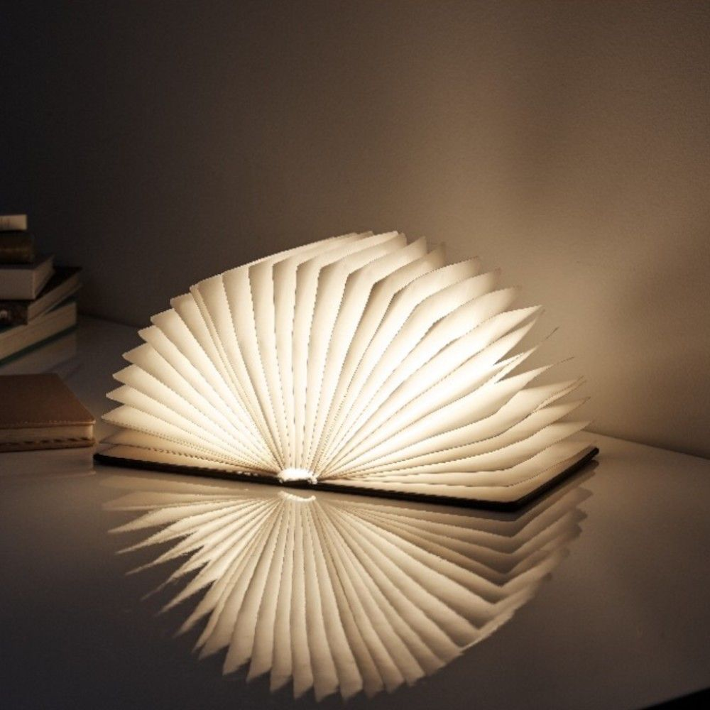 Lampe Livre Pliante Noir Gris Ou Rose Lampe Livre Lampe Deco Lumineuse