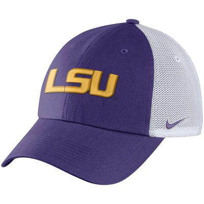 20735b139f8 Men s Nike Purple LSU Tigers Heritage 86 Trucker Adjustable Hat ...