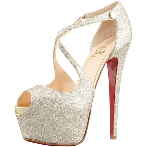 Christian Louboutin Exagona Glitter Platform Pumps for sale cheap real uaGhY