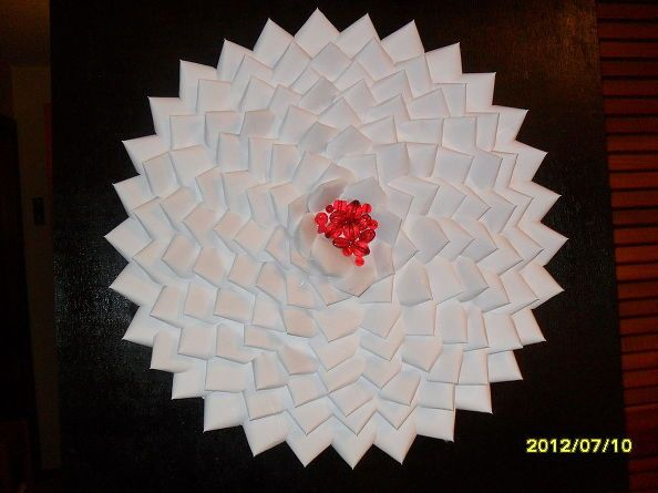 Wall Decor Made From Old Business Cards Card Craft Art Business Cards Recycle Craft Projects