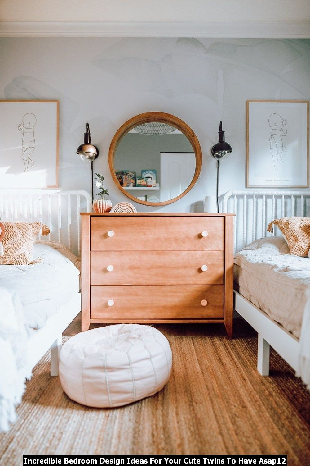 Adorable 20 Incredible Bedroom Design Ideas For Your Cute Twins To Have Asap In 2020 Twin Bedroom Boys Bedroom Wallpaper Twin Boys Bedroom