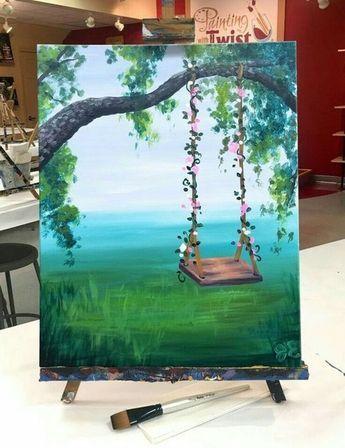 40 Ideas Faciles De Acrilico Para Pintar Lienzos Pintura De Arte Pintura De Arte Abstracto Arte En Lienzo