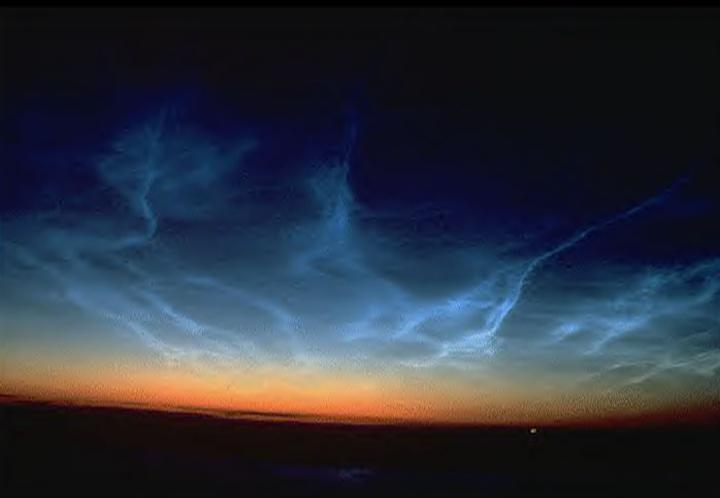 Noctilucent Clouds They Come From Outer Space In 2021 Clouds Earth At Night High Clouds