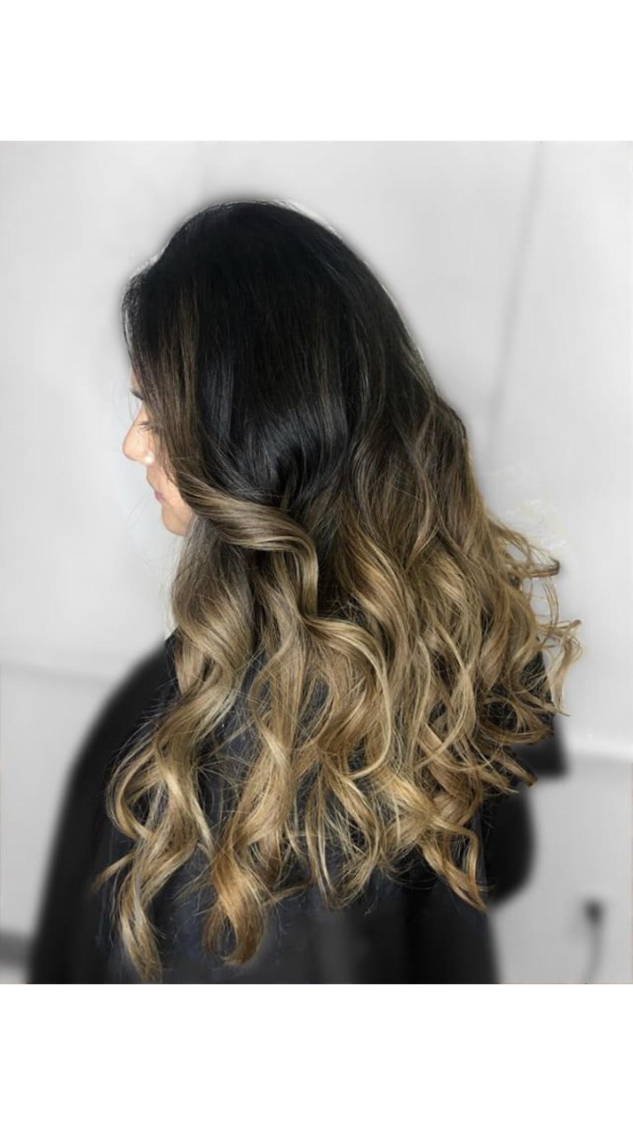 Top balayage color for dark hair, dark hair, summer color, gets ...