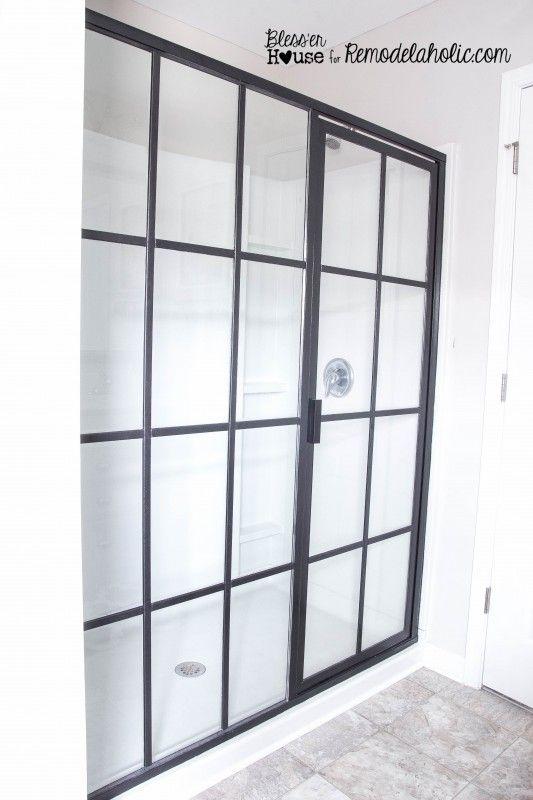 Diy Industrial Factory Window Shower Door Shower Doors