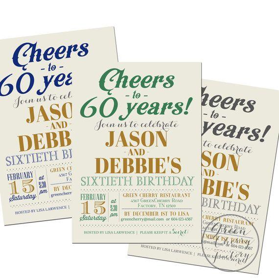 Joint Double Birthday Invitation - Surprise Adult Birthday - birthday invitation for adults