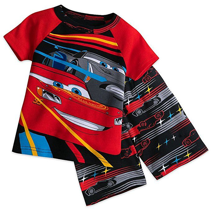 Disney Cars 3 PJ PALS Short Set for Boys Size 3 Genuine, Original,  Authentic Disney Store Cars 3 screen art Characters include Lightning  McQueen and Jackson ...