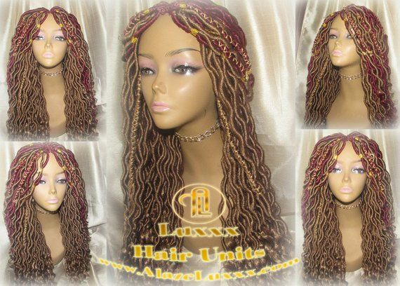 Boho Goddess Faux Locs Wig Gold Honey Blonde 27 Marley Hair