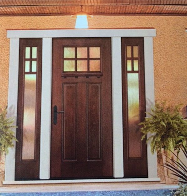 36 X96 With 2 Sidelights 12 Or 14 Glass Sidelights Included Clear Double Pane Insulated Tempere Craftsman Exterior Door Front Entry Doors Exterior Doors