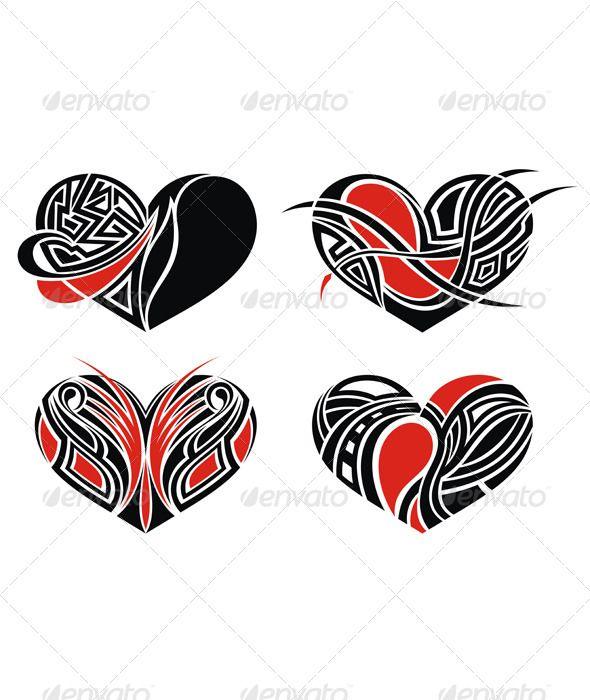 Tattoo Hearts Heart Tattoo Tribal Art Designs Love Symbols