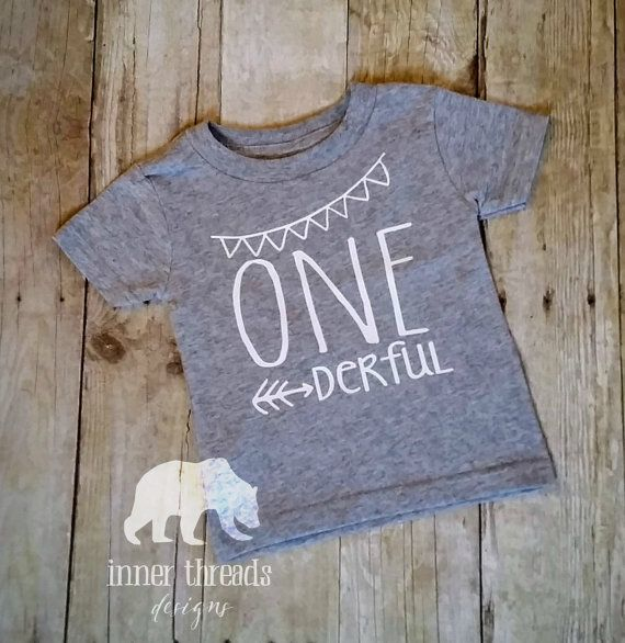 One Year Old Grey T Shirt Derful Graphic Baby Tee Birthday