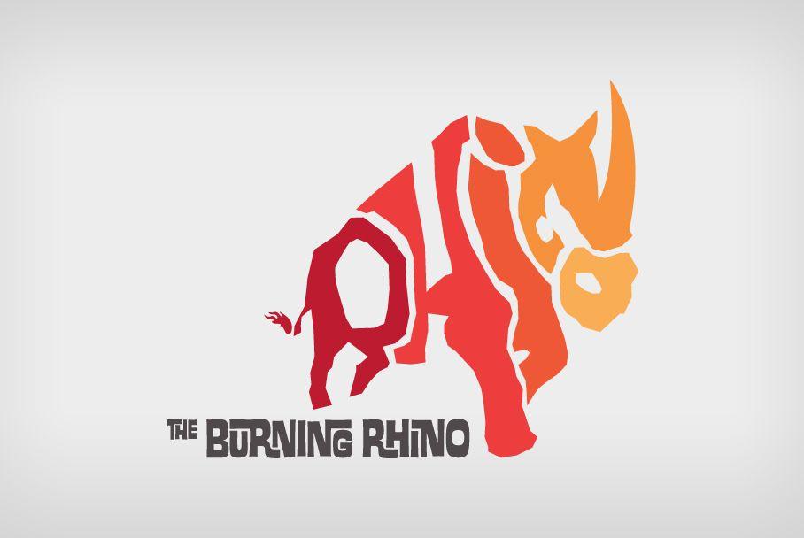 The Burning Rhino logo design