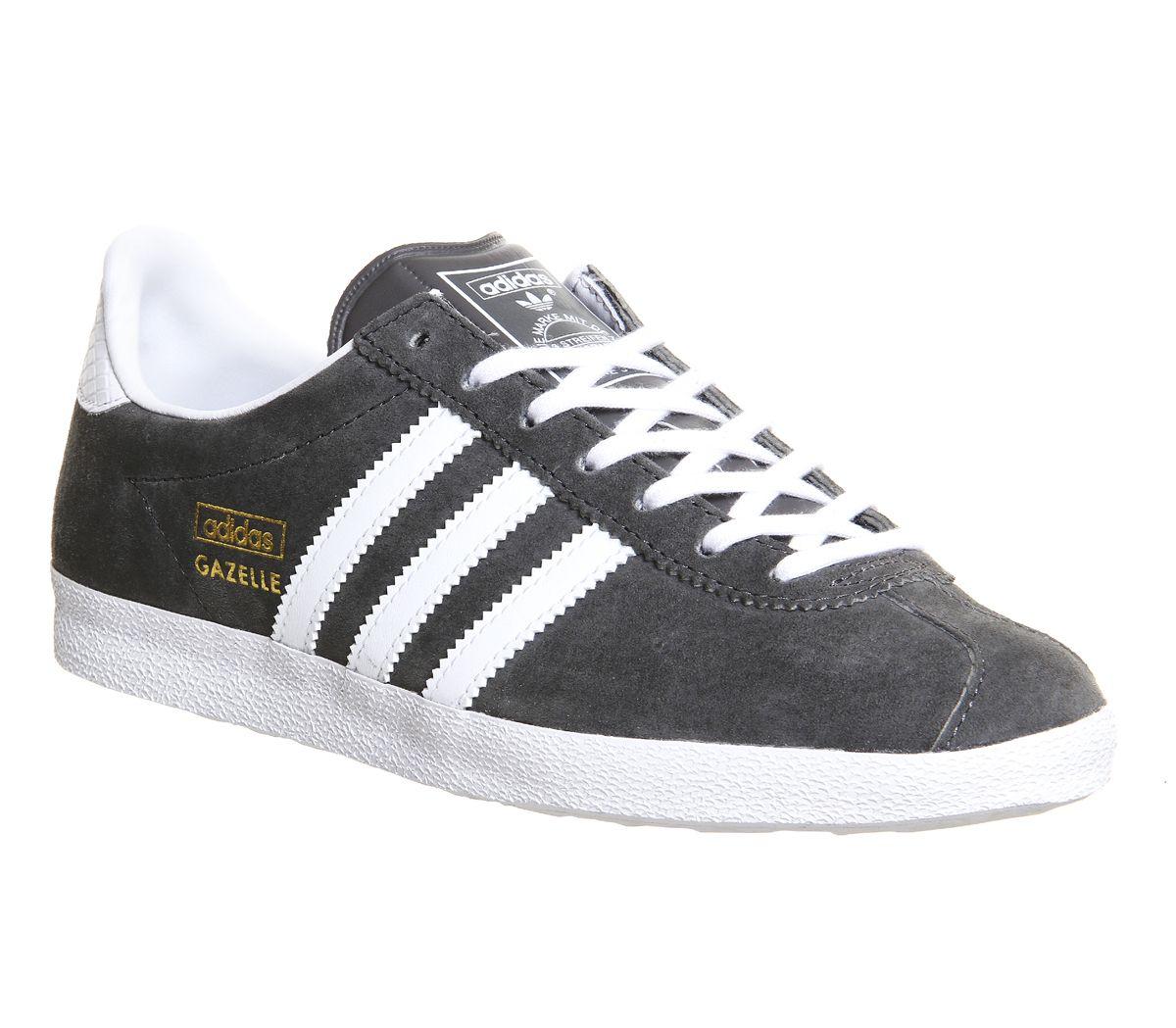 Buy Ash White Metallic Gold Adidas Gazelle Og W from OFFICE.co.uk.