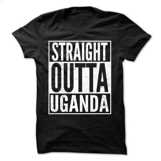 Straight Outta Uganda - Awesome Team Shirt ! - #grey tee #tshirt painting. BUY NOW => https://www.sunfrog.com/LifeStyle/Straight-Outta-Uganda--Awesome-Team-Shirt-.html?68278