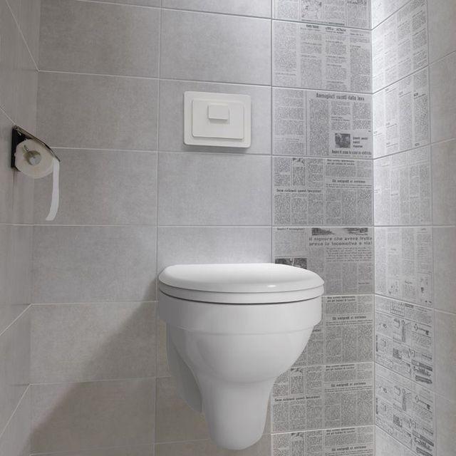 Decor 20 X 40 Cm Nebbia News Carrelage Wc Decoration Toilettes Deco Wc