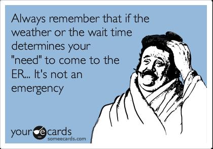 Er misuse complaints wait time assholes
