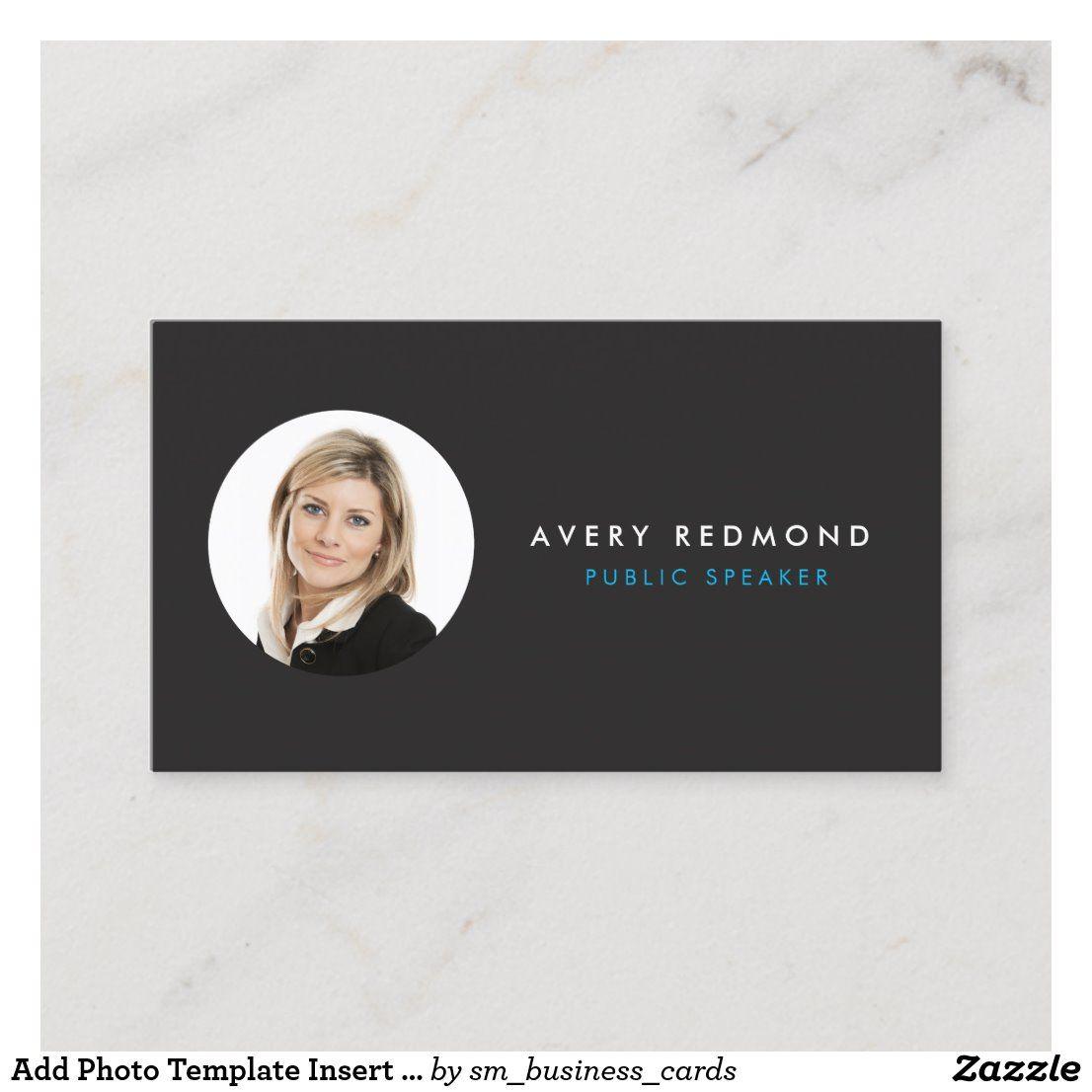 Add Photo Template Insert For Professionals Black Zazzle Com
