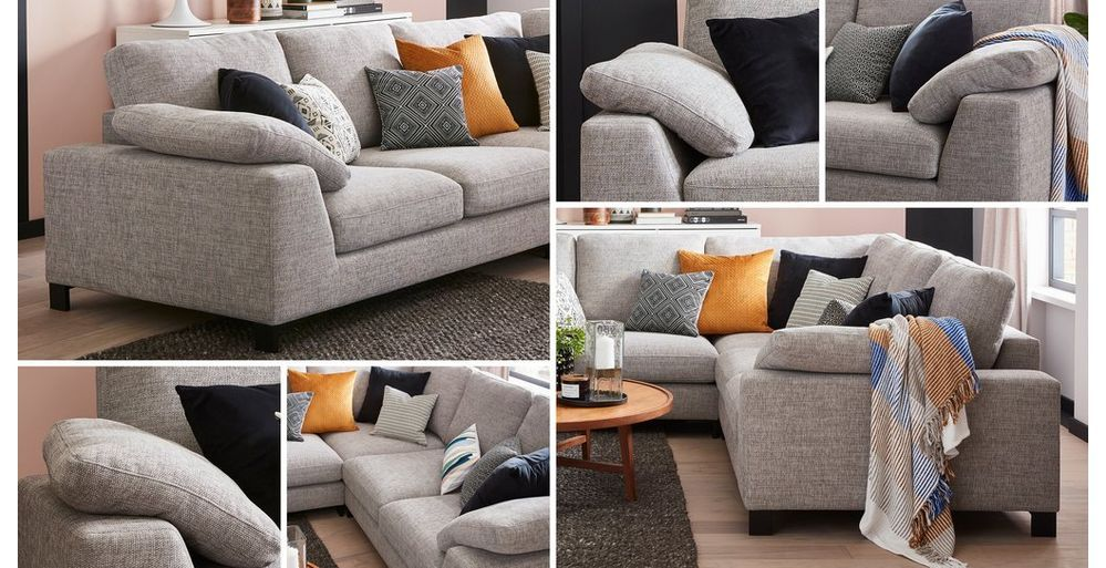 Euphoria 2 Corner 2 Breeze Plain Dfs Living Room Decor Storage Footstool Velvet Footstool