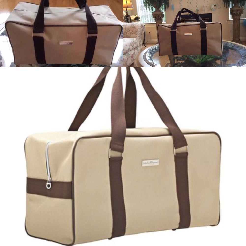 Salvatore Ferragamo Men Duffle Bag Weekender Gym Travel Overnight Handbag   eBay