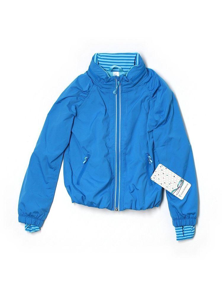 25f9108035f113 New Girl Ivivva Run For It Blue Full Zip Jacket Wind Breaker Size 6 #ivivva