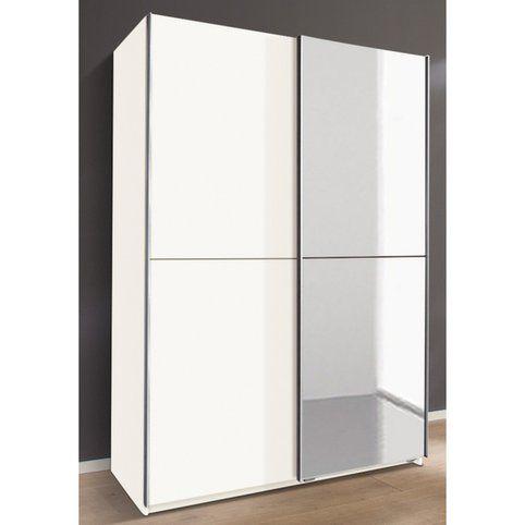 Armoire Lingère Penderie Portes Coulissantes Avec Porte Miroir - Porte placard coulissante avec porte coulissante vitree