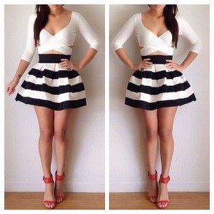 crop tops and high waisted skirts for teens - Google Search ...