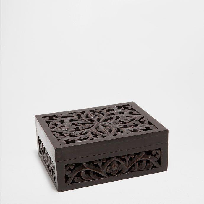 Grande boîte bois ajourée boîtes décoration zara home belgië belgique
