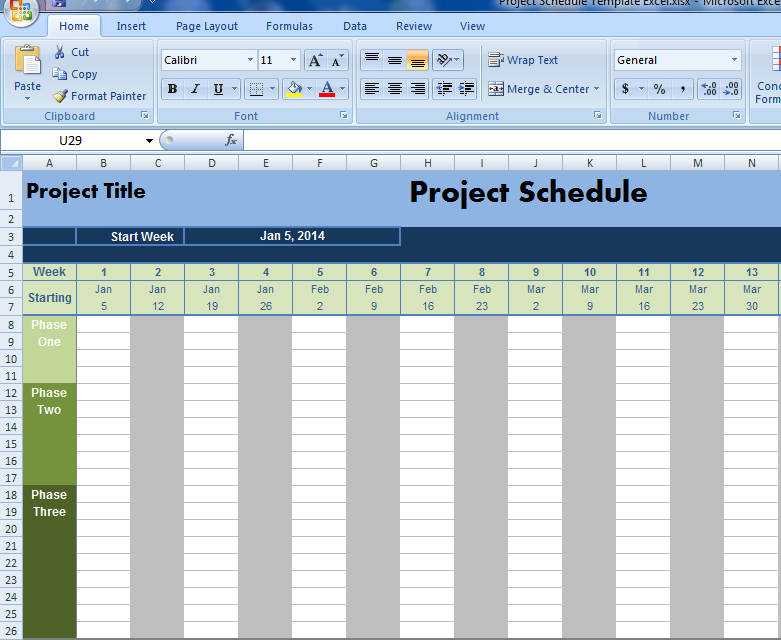 project schedule template excel projectemplates excel project