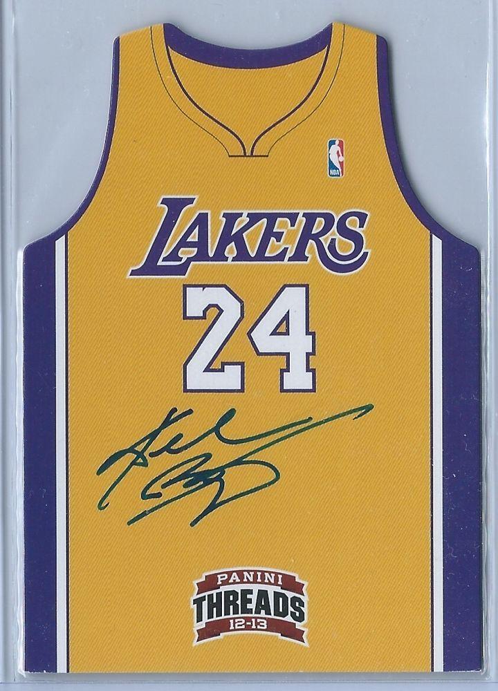 b18f6253421 12-13 Threads Team Jersey Kobe Bryant Autograph Auto Die-Cut Card ...