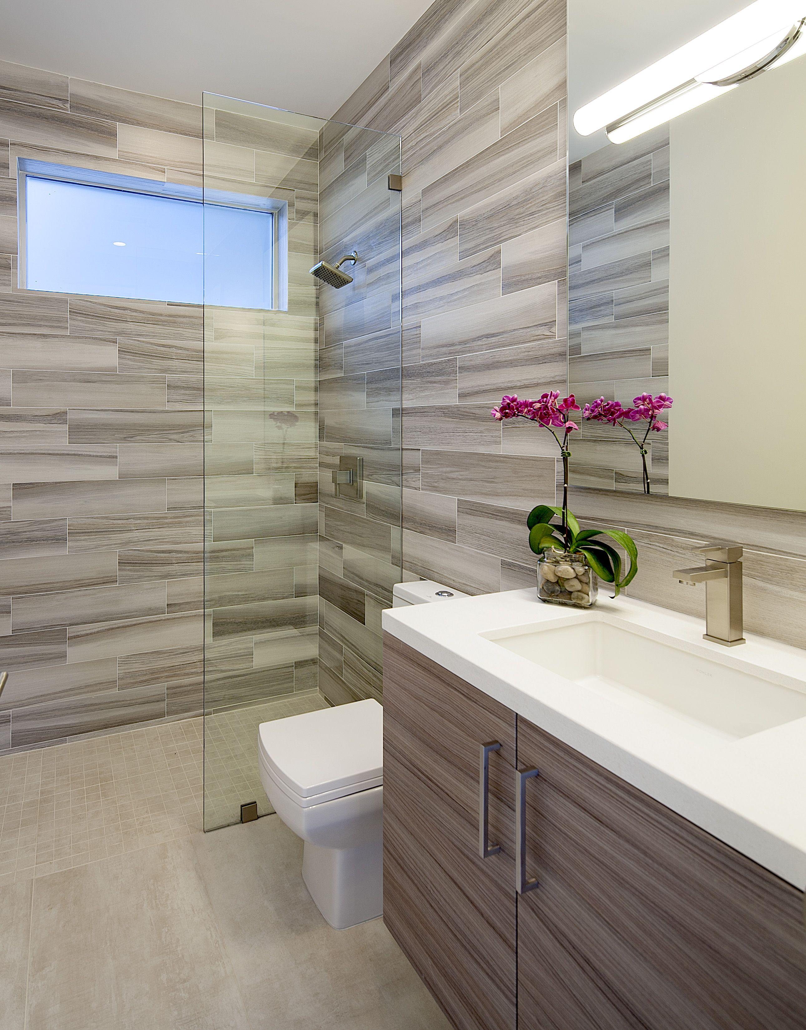 Modern Bathroom At Knobhill In Sherman Oaks By Boswell Construction - Bathroom remodeling sherman oaks