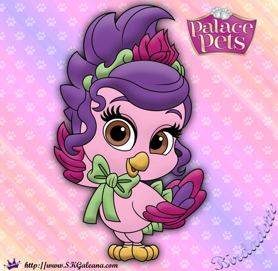 Princess Palace Pets Coloring Page Of Birdadette Palace Pets Princess Palace Pets Disney Princess Pets