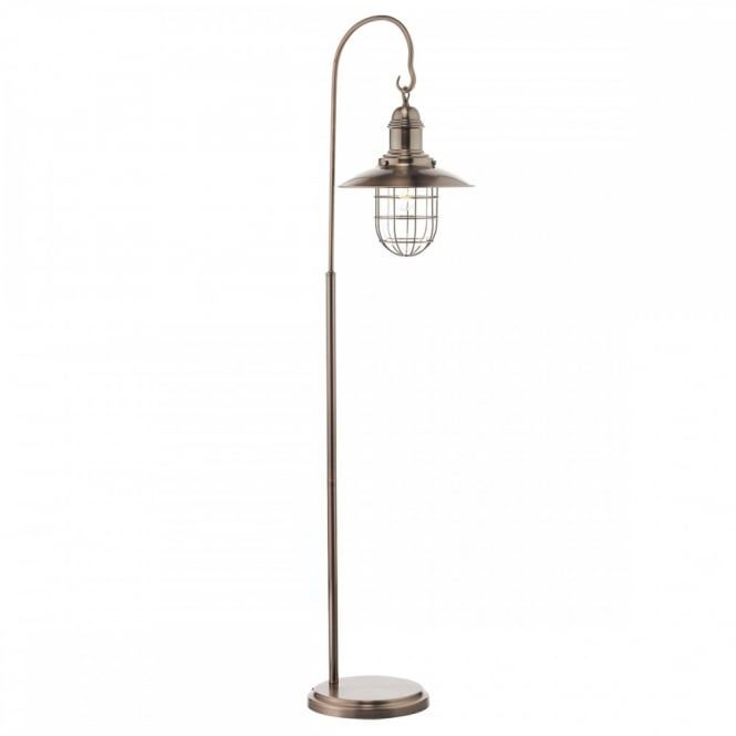 The Lighting Book TERRACE Rustic Hanging Lantern Floor Lamp In Copper Finish