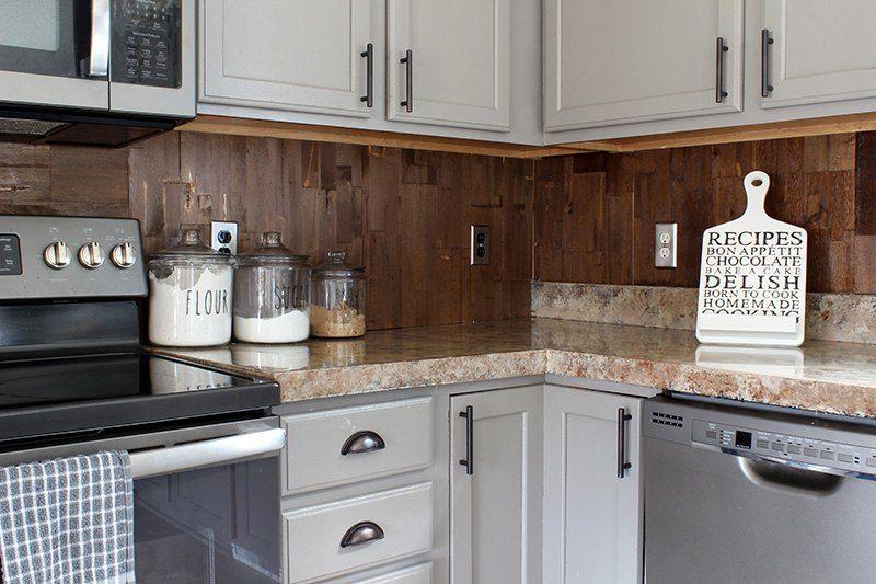 Wood Paneled Kitchen Backsplash Diy Kitchen Backsplash Cheap