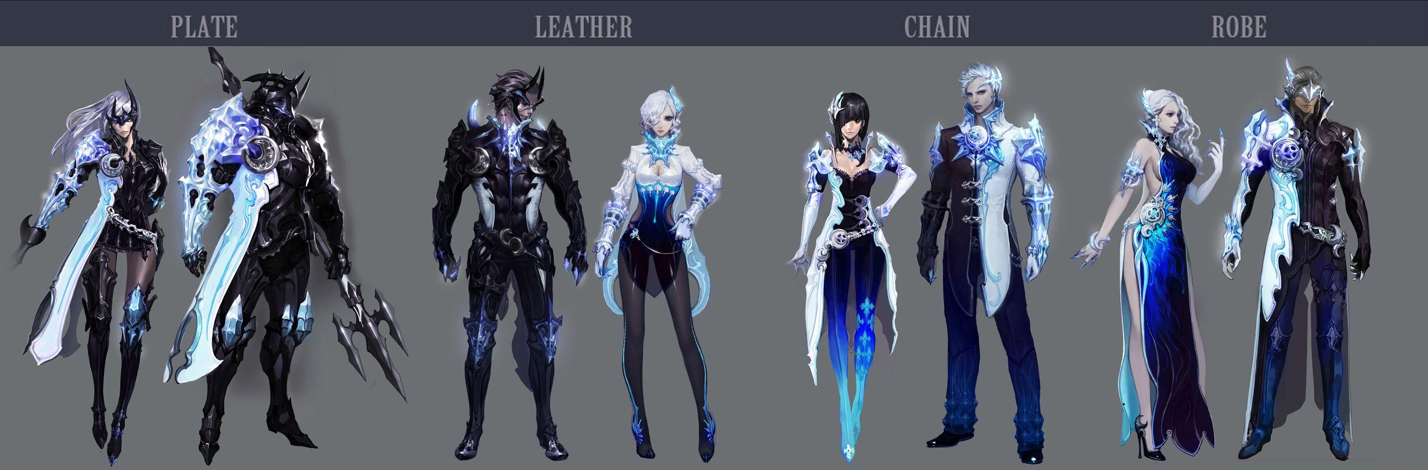 Character Design Set : Aion concept arts of new item sets daeva s report