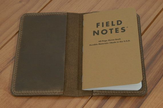 Field Notes Cover - Horween Chromexcel Brown - Handcrafted 100 - field note