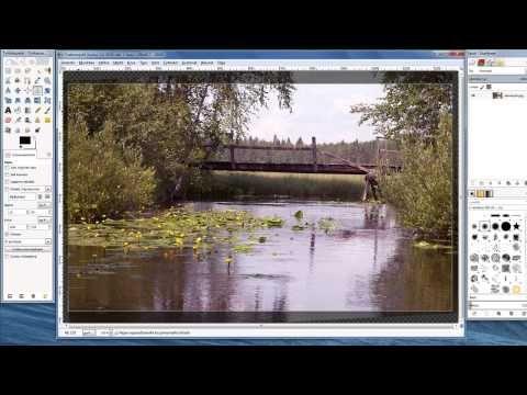 Gimp - kuvan perussäädöt - YouTube